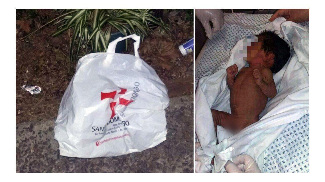 El bebé fue encontrado por un perro en la calle