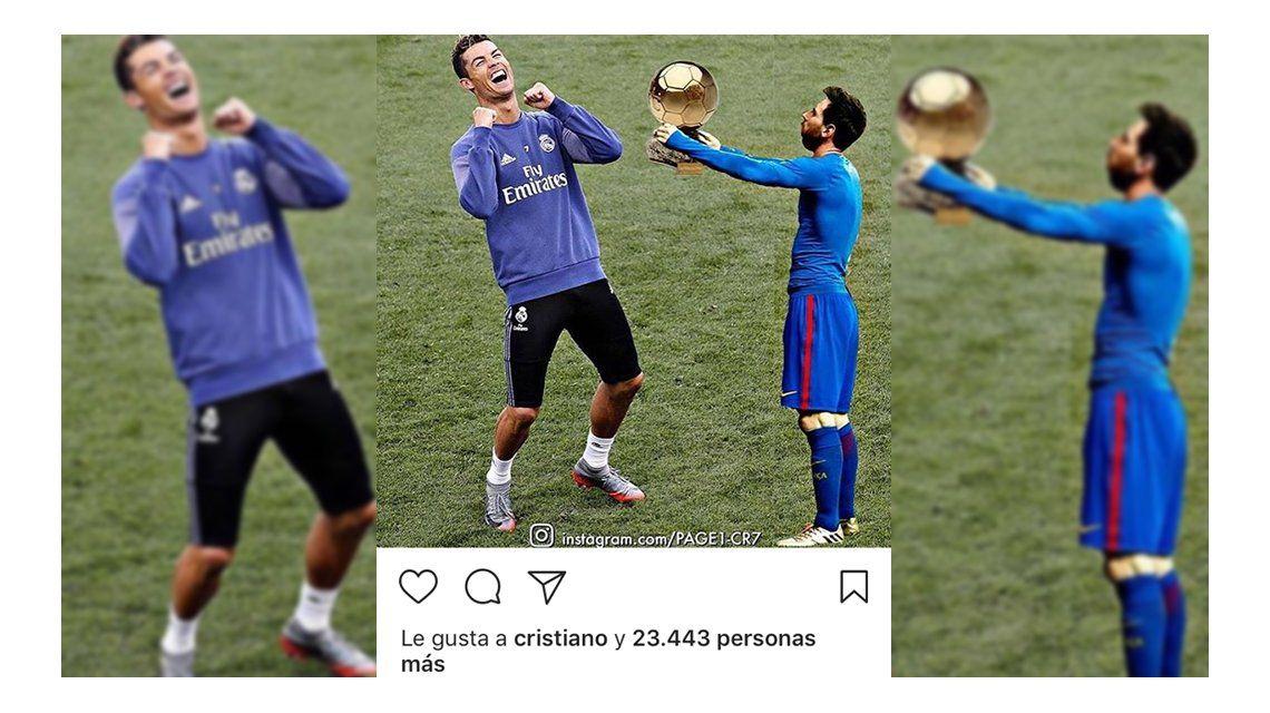 Tras un nuevo título, Cristiano Ronaldo se ríe de Lionel Messi en Instagram