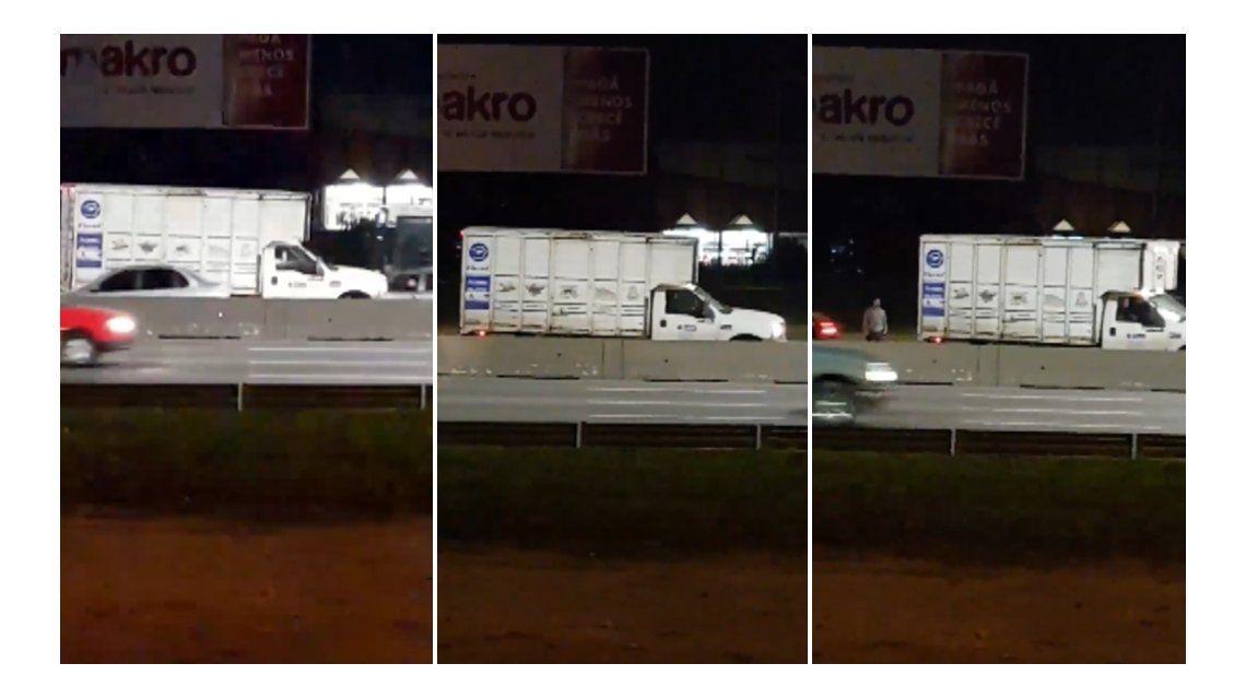 El camión a contramano en la General Paz