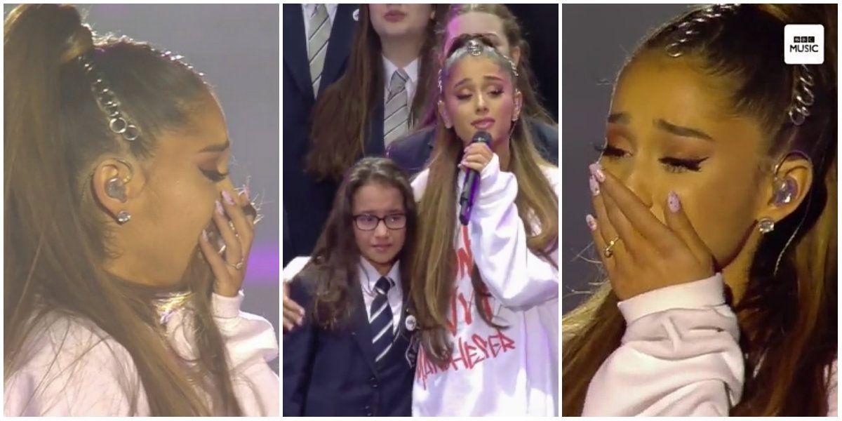 El llanto de Ariana Grande en el concierto One Love Manchester