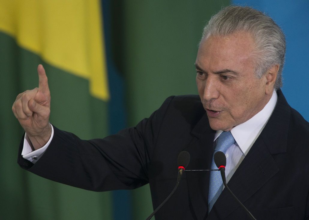 <p>Michel Temer, presidente de Brasil</p>