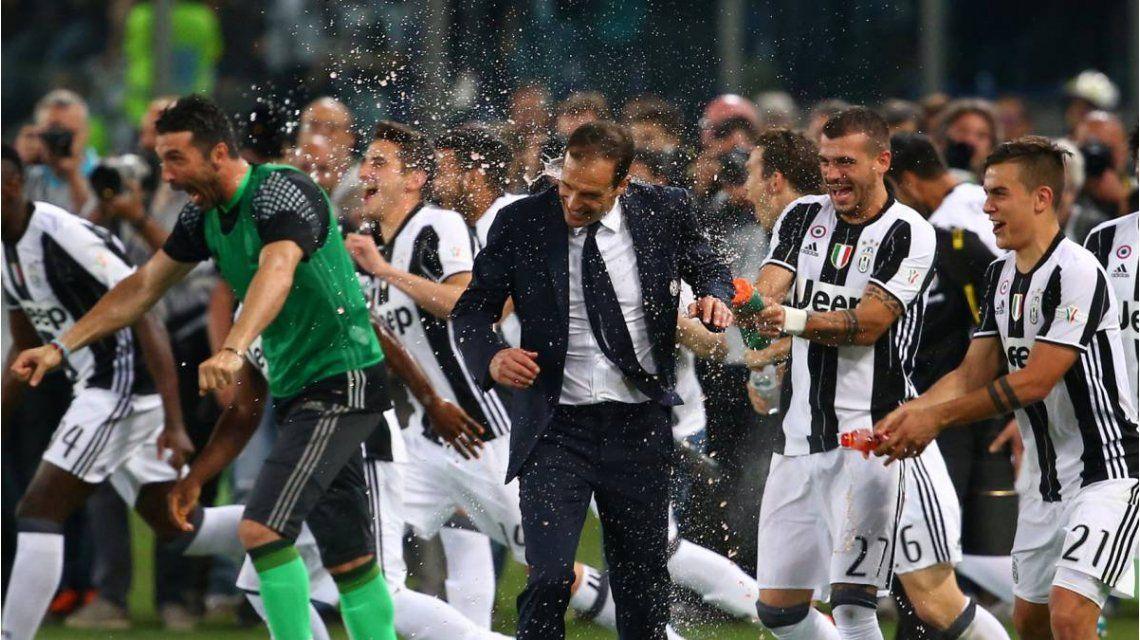 El festejo de la Juventus