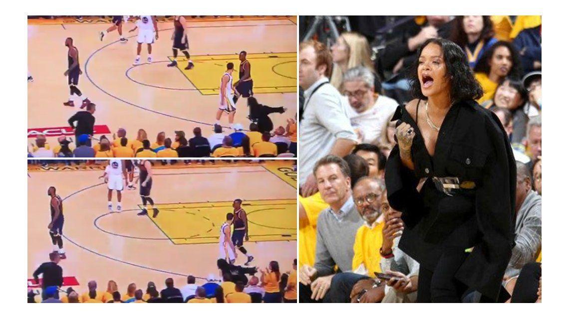 Aliento de Rihanna para LeBron James
