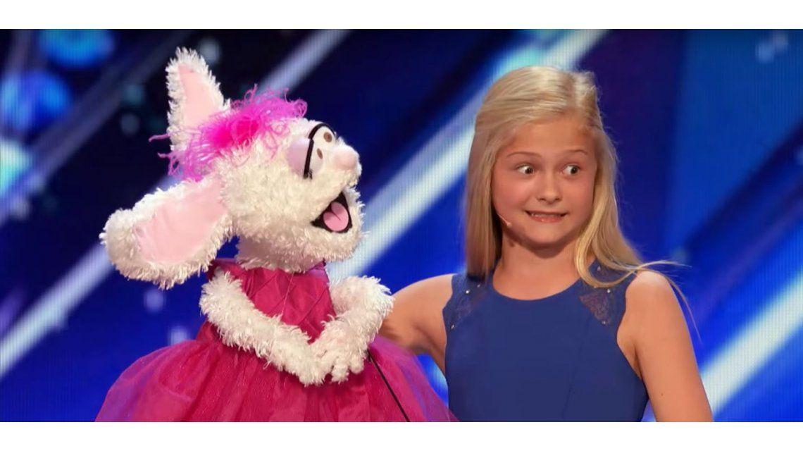 Una nena ventrílocua fue a un programa de talentos y se viralizó