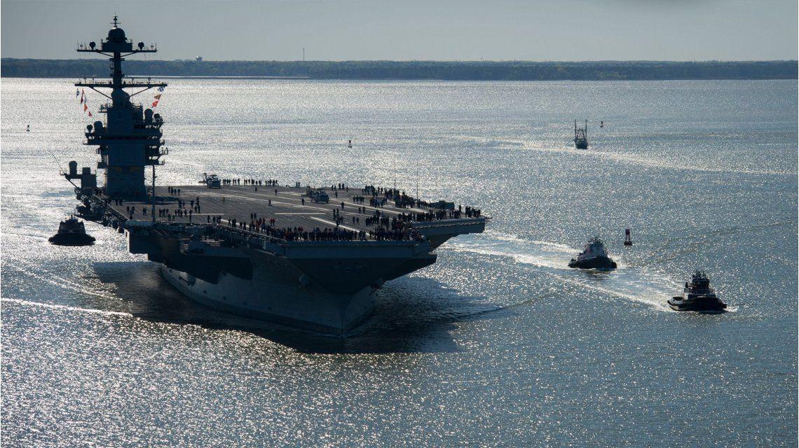 El nuevo y más caro portaaviones nuclear ya forma parte de la flota de Estados Unidos