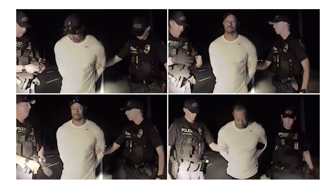 VIDEO: Así detuvieron a Tiger Woods por manejar drogado