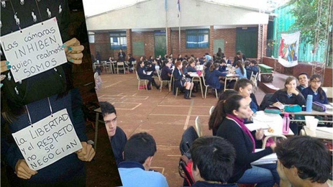 Pusieron cámaras y micrófonos en las aulas de un colegio
