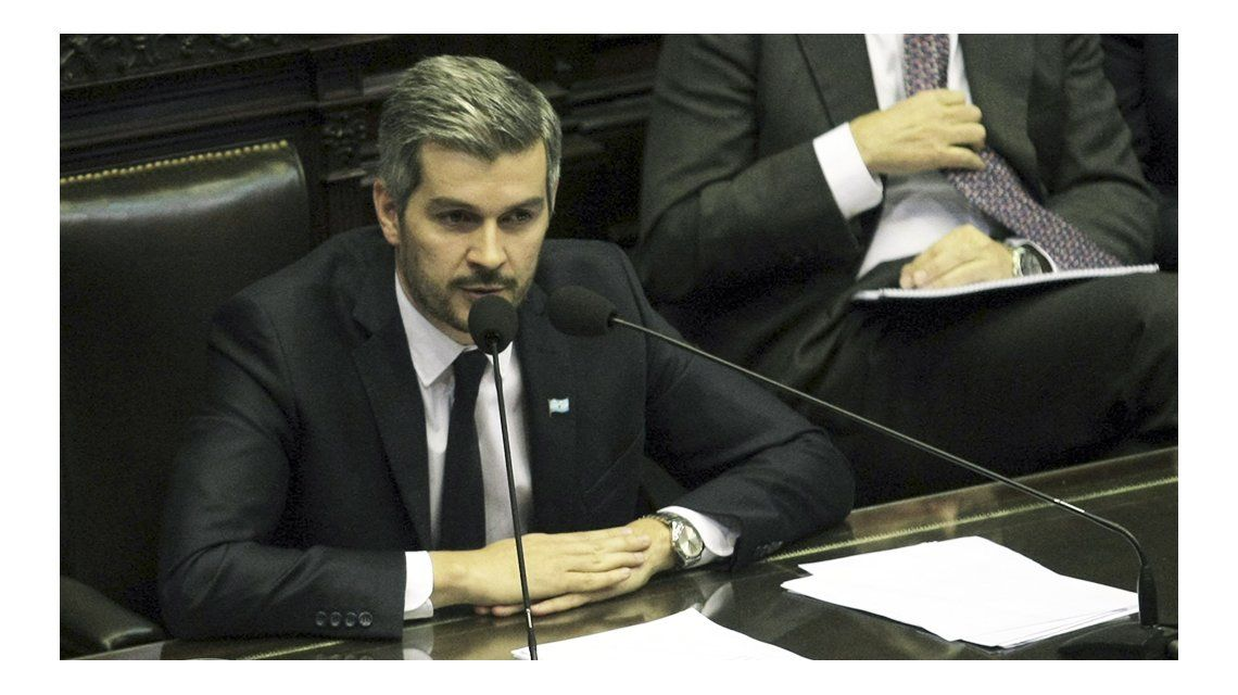 Marcos Peña responde preguntas de diputados