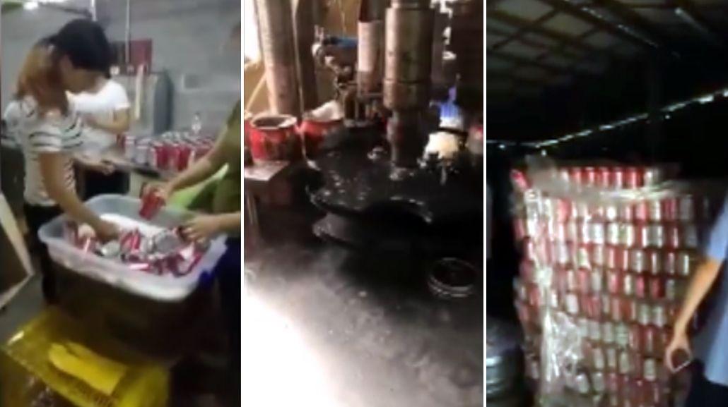 Falsifican latas de cerveza en una fábrica china