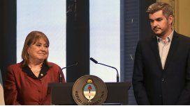 Malcorra y Peña, el lunes pasado, cuando anunciaron su salida