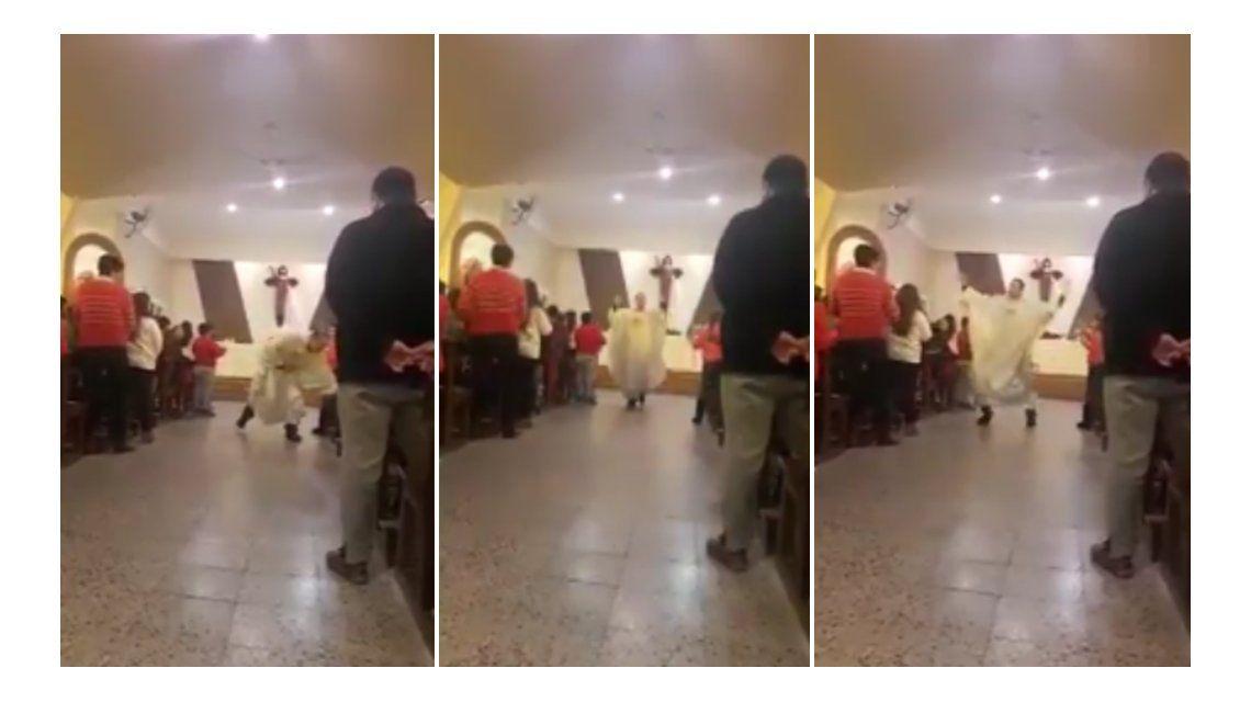 Un cura baila y canta una versión parroquial de Despacito