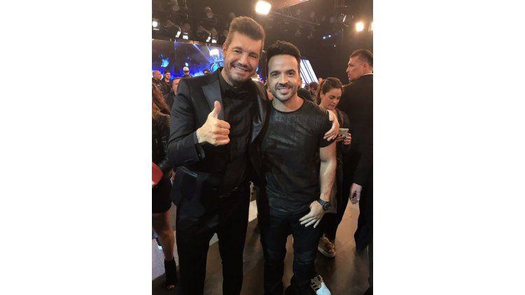Marcelo Tinelli y Luis Fonsi