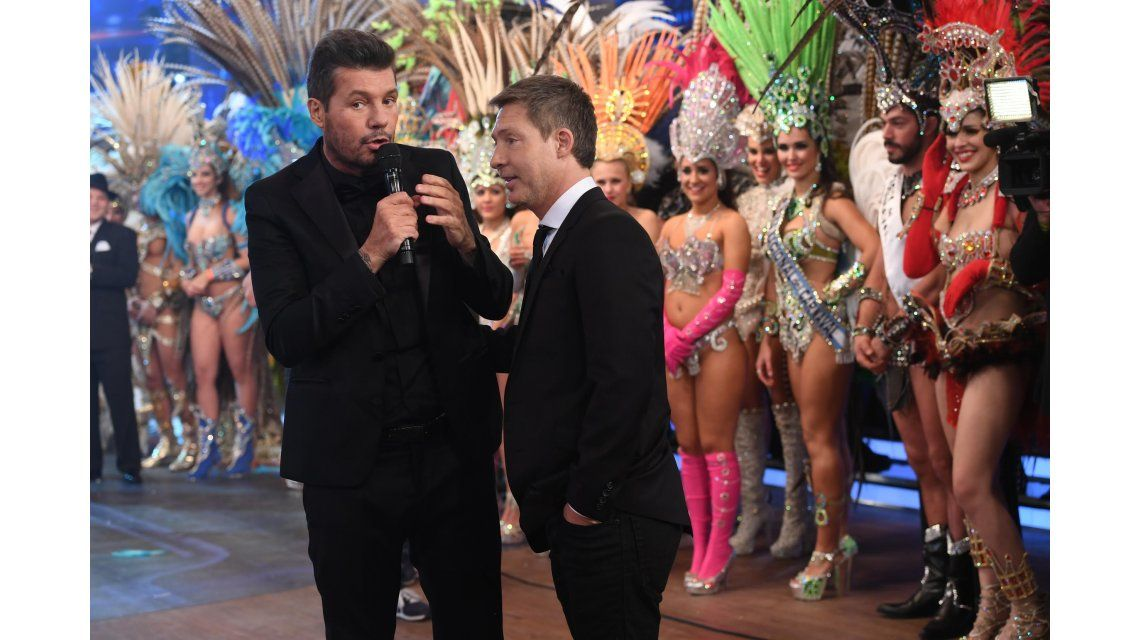Marcelo Tinelli y Adrián Suar en la apertura de ShowMatch