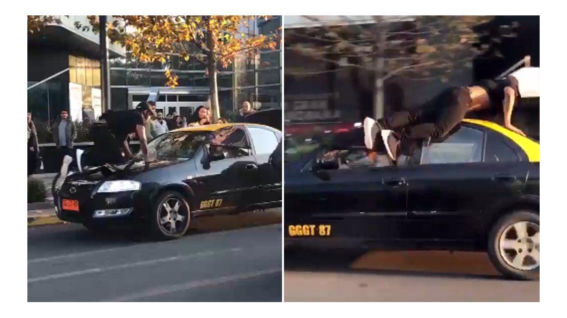 Un taxista quiso robar unas valijas y atropelló a un hombre que trató de ayudar