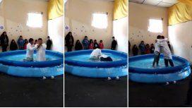 Viral imperdible del diputado Olmedo: su bautismo, en una pelopincho