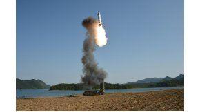Corea del Norte lanzó otro misil al Mar de Japón - Imagen de archivo
