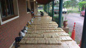 Incautaron más de una tonelada de marihuana en un operativo en Misiones