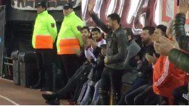 El uruguayo agradeció el gesto