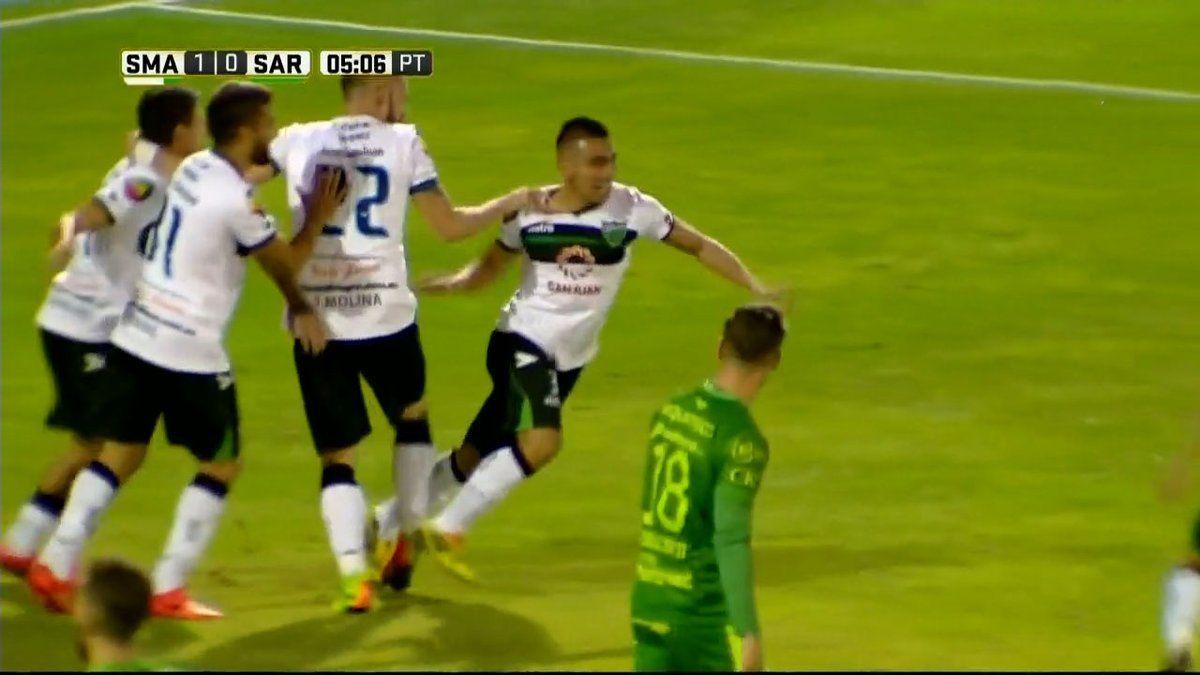 San Martín goleó a Sarmiento en San Juan