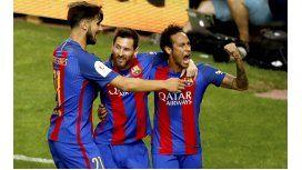 Con un gol de Messi, el Barça superó al Alavés y se quedó con la Copa del Rey