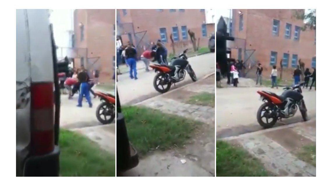 Así fue la secuencia de la pelea en una escuela de González Catán