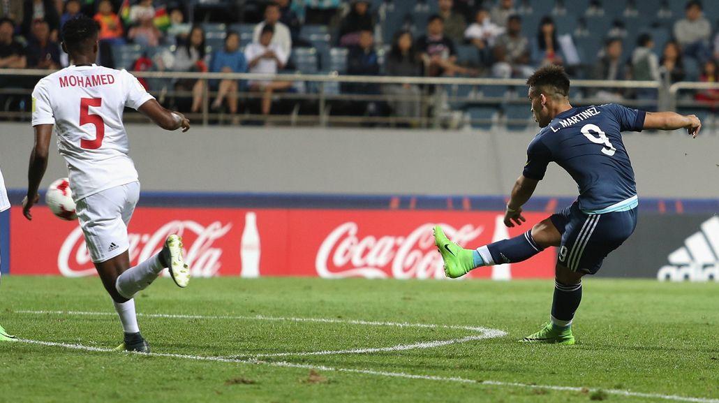 Mundial Sub 20: Martínez hizo el segundo gol para Argentina