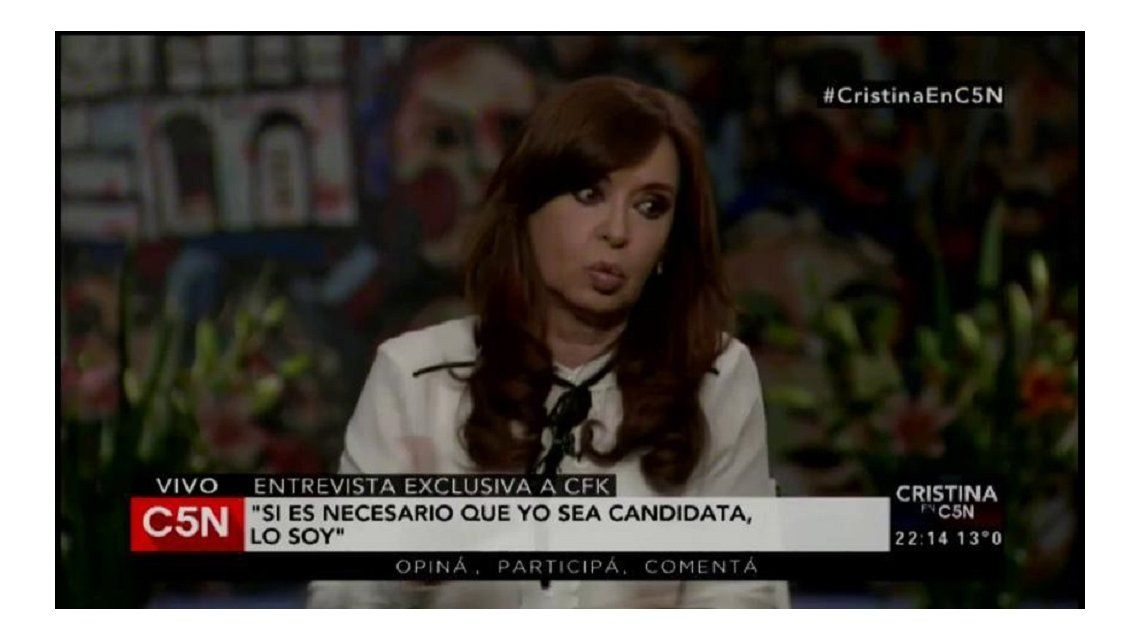 Cristina Kirchner en C5N