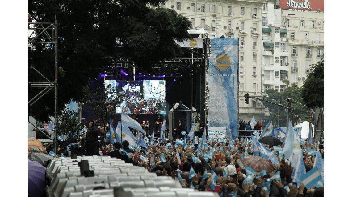 Argentina Ora se realizó este sábado en el Obelisco