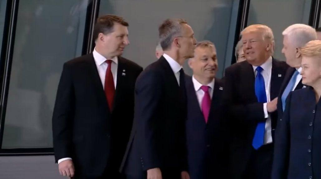 El gesto poco diplomático de Trump con el primer ministro de Montenegro