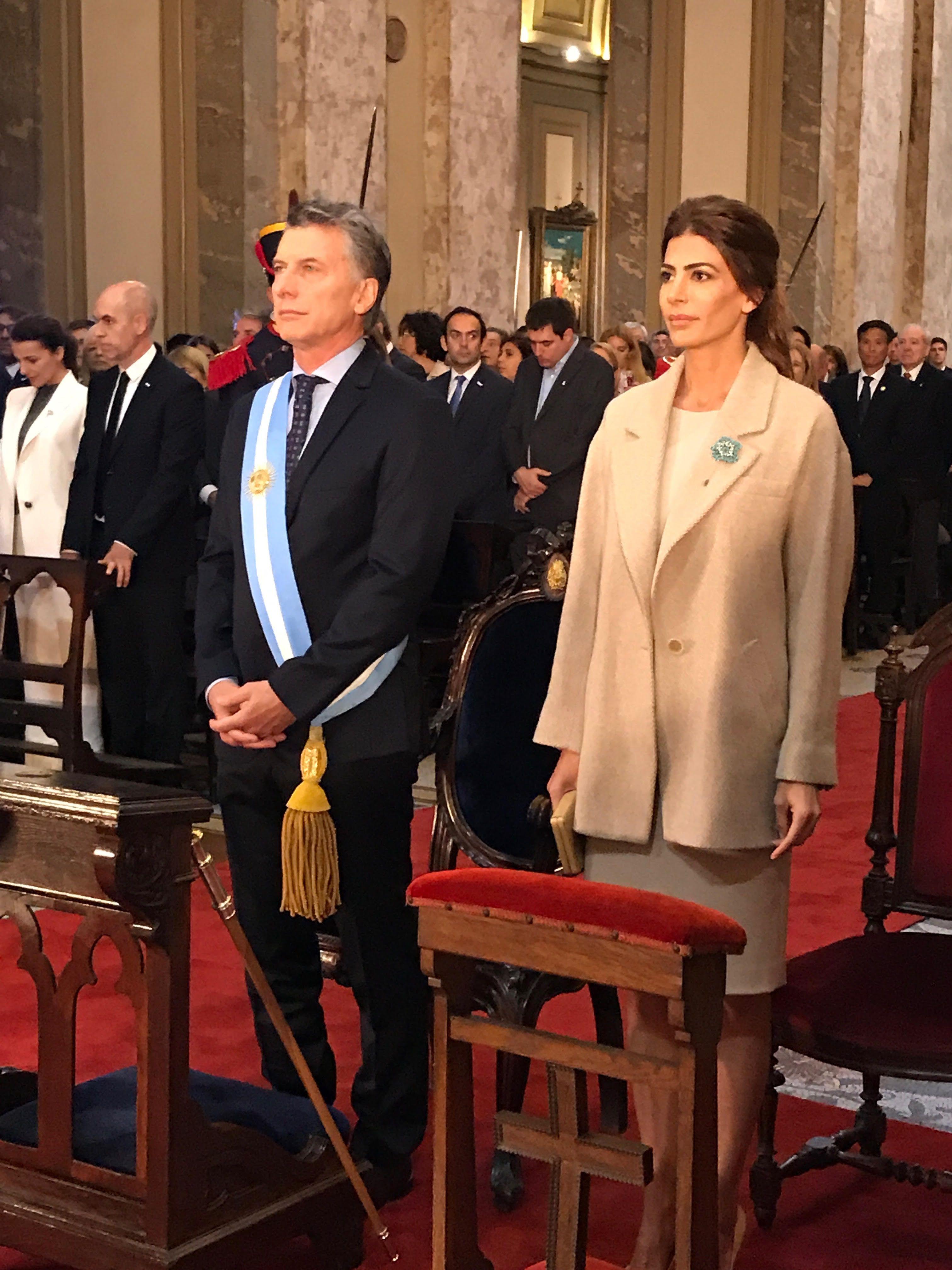 <p>Macri y Awada en el Tedeum</p><p></p>