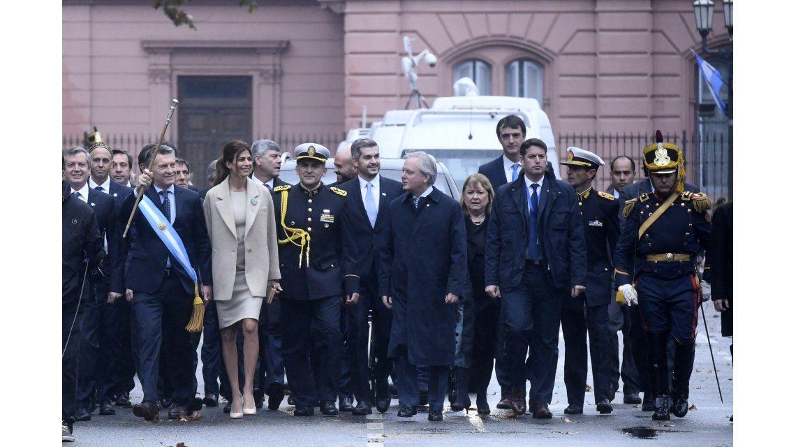 Macri y el Gabinete durante le Tedeum