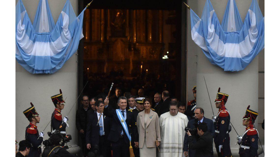 Macri y Awada en la Catedral por el Tedeum