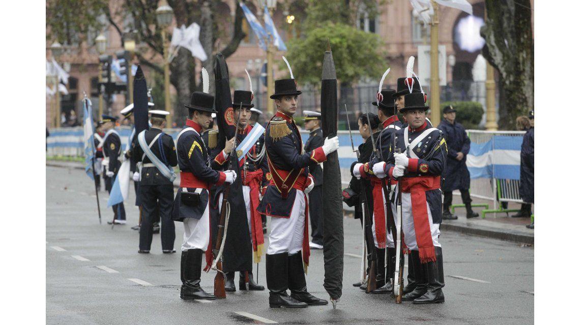 Regimiento de Patricios en el Tedeum