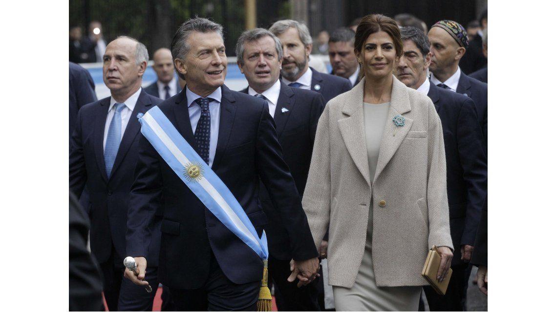 Macri y Juliana Wada en el Tedeum por el 25 de mayo