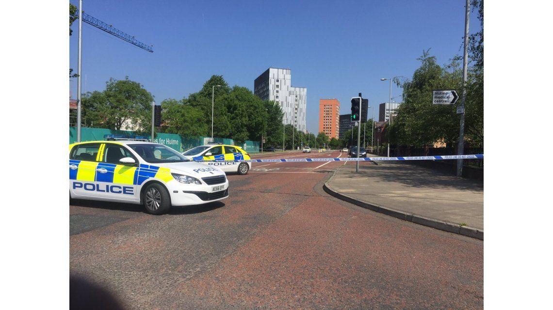 Falsa alarma de bomba en Manchester - Crédito:@Julian5News