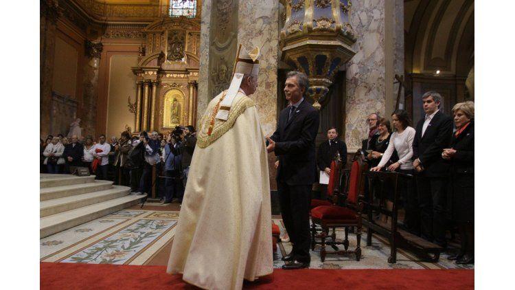 Macri en el Tedeum de la Catedral Metropolitana