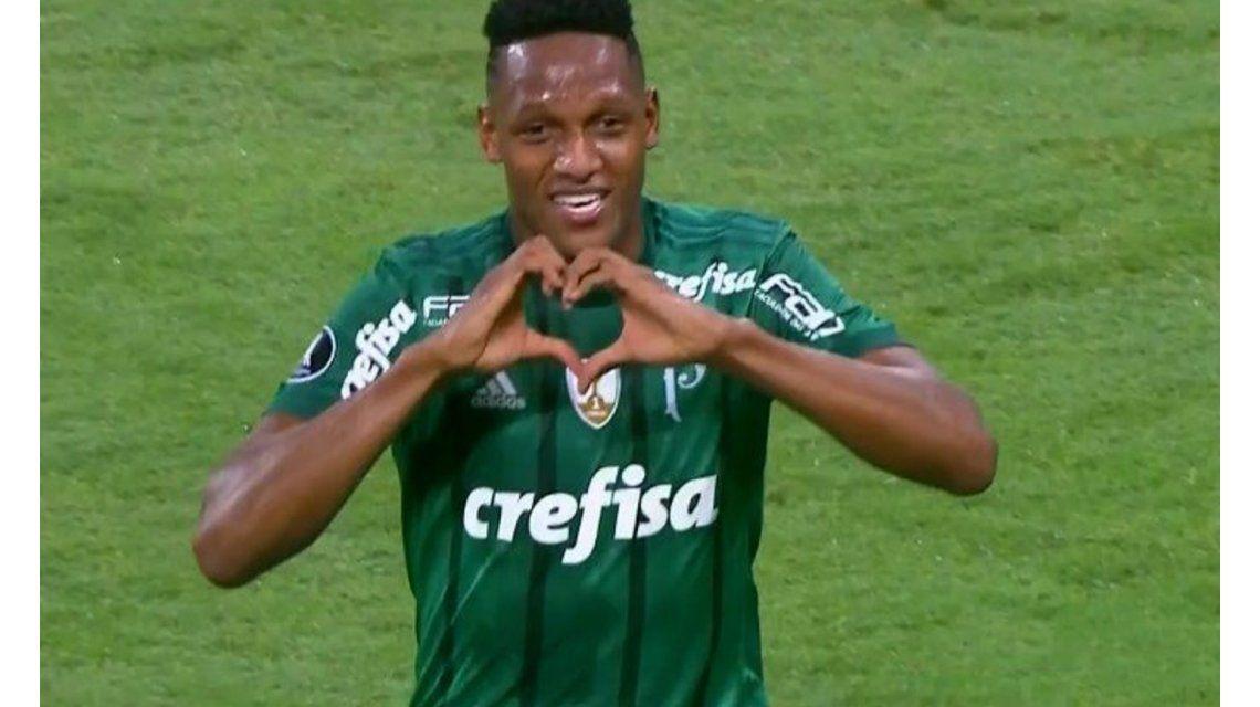 Yerry Mina marcó el primer gol