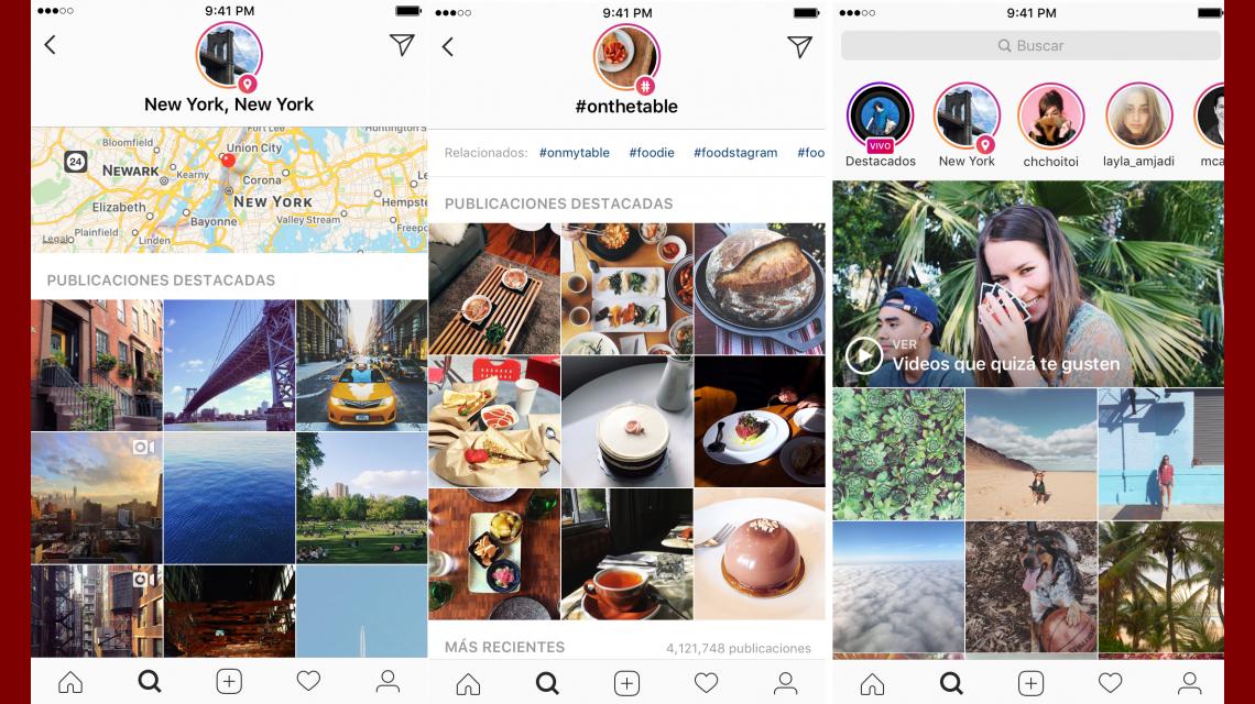 Instagram anuncia Stories por hashtag y localización