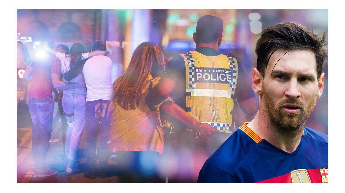 Messi lamentó el atentado en Manchester