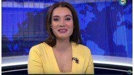Una presentadora tuvo una inesperada visita mientras transmitía en vivo
