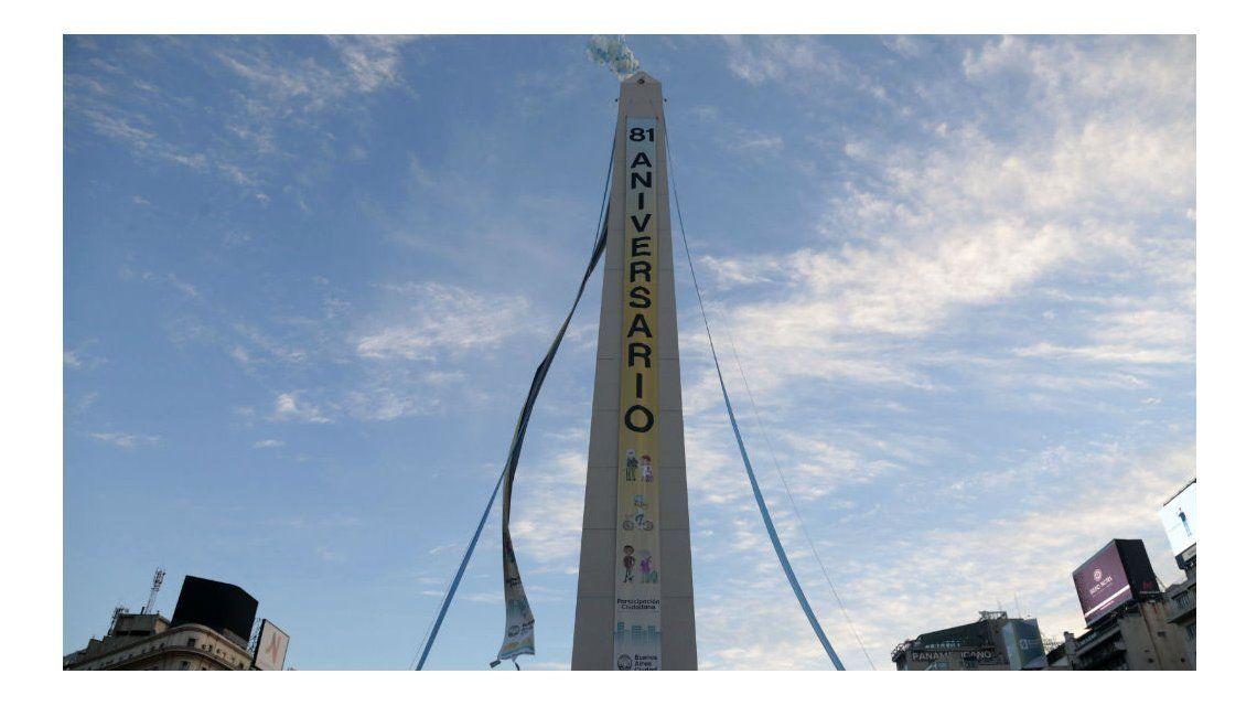 El Obelisco cumplió 81 años
