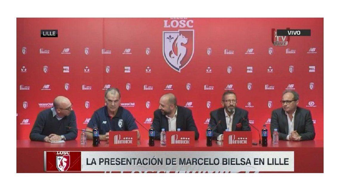 La conferencia de prensa de Marcelo Bielsa en el Lille