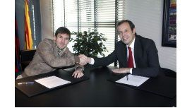Lionel Messi y Sandro Rosell