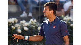 Nole viene de perder la final del Masters 1000 de Roma ante Zverev
