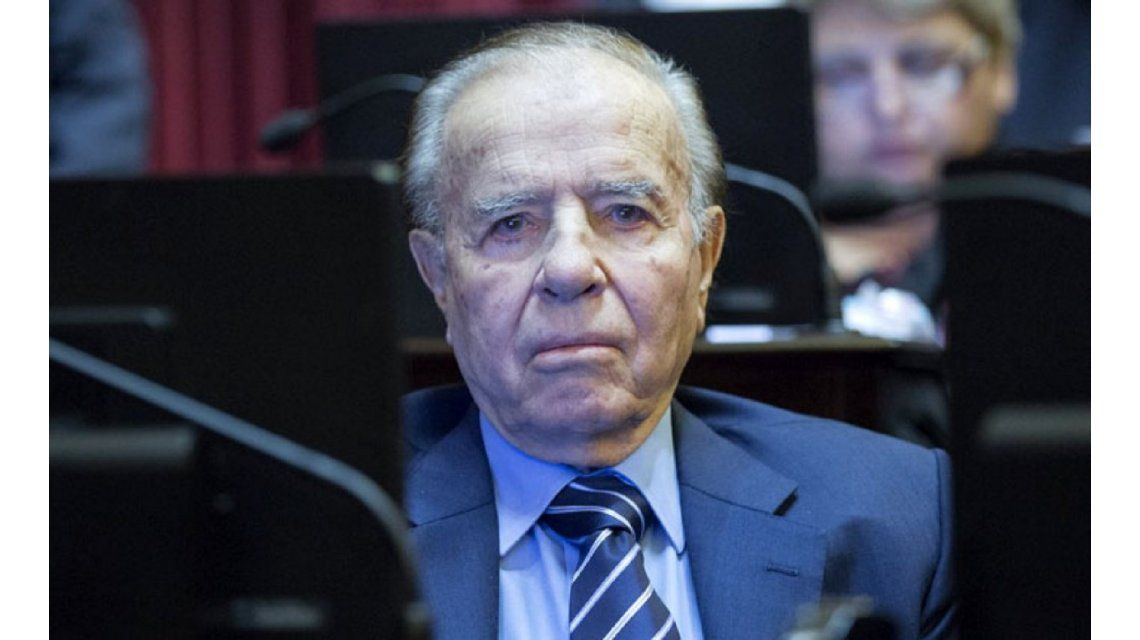 Carlos Menem volverá a ser candidato a senador