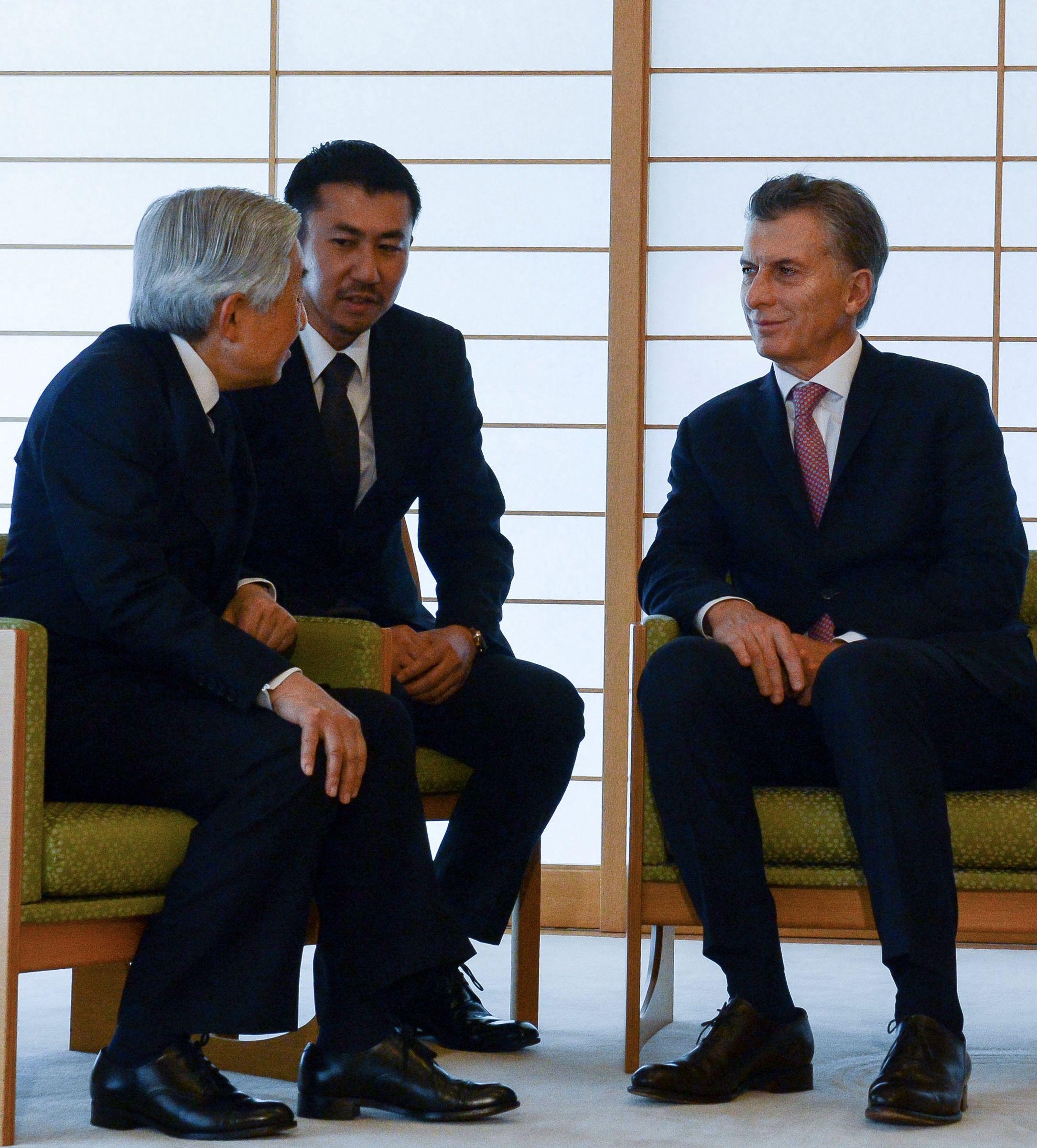 El encuentro de Macri con el emperador Akihito