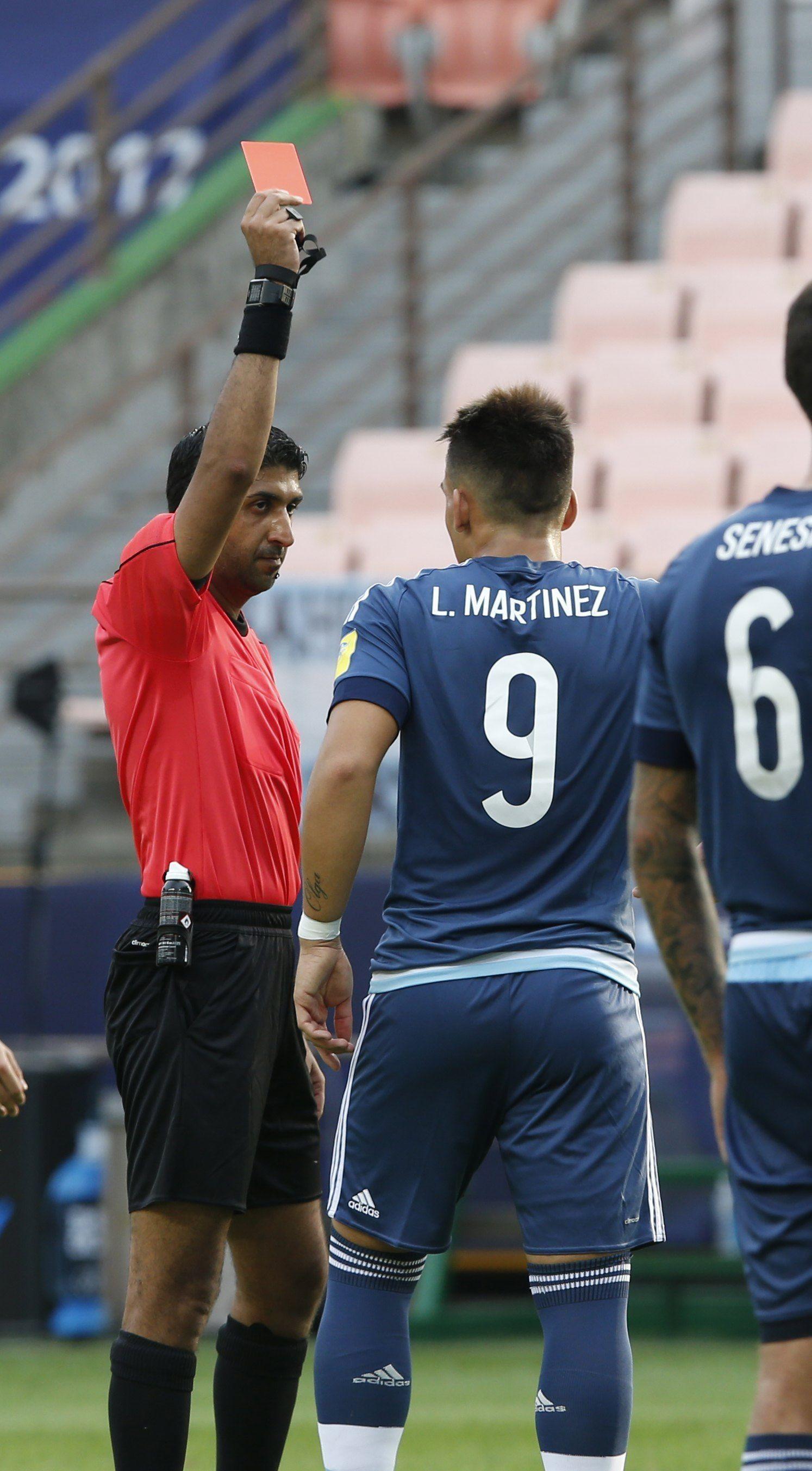 La expulsión de Lautaro Martínez