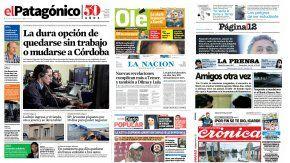Tapas de diarios del sábado 20 de mayo de 2017