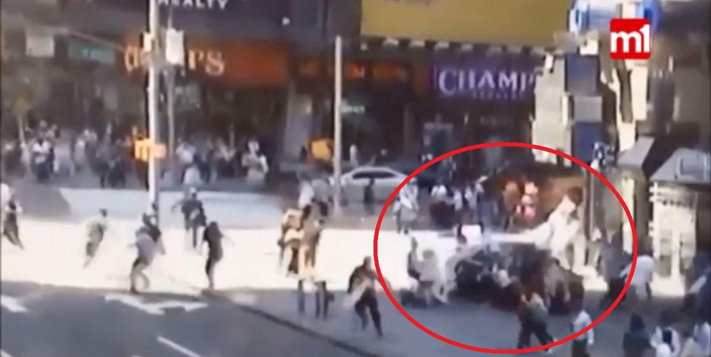 Así fue el accidente en Times Square