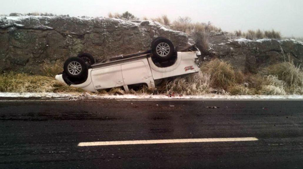 Así quedó la camioneta en la que viajaba el Ministro